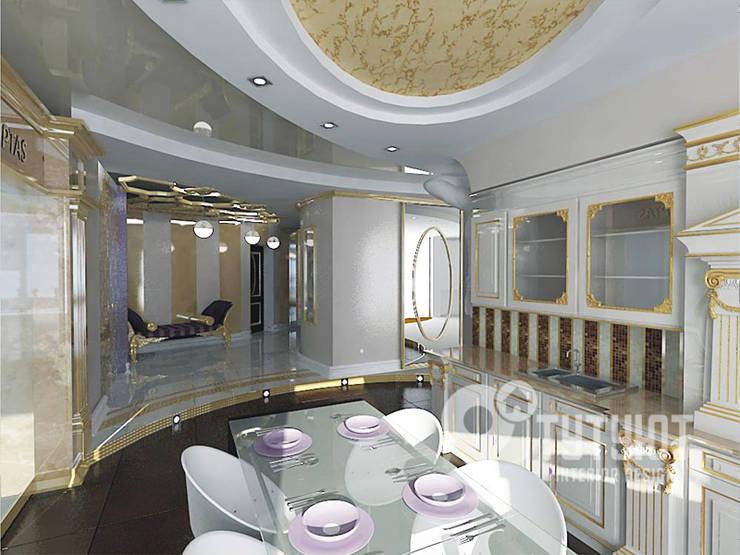 Квартира для артистической натуры: Столовые комнаты в . Автор – Interior Design Studio Tut Yut