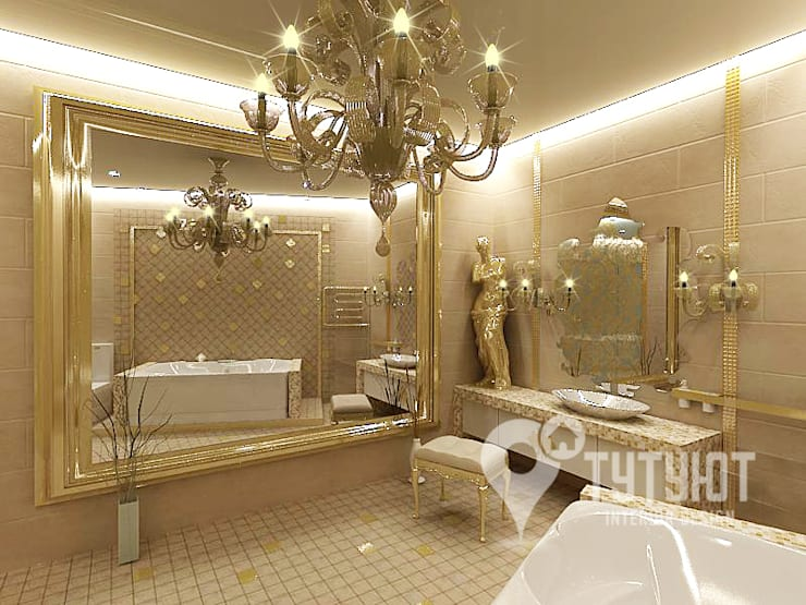 Квартира для артистической натуры: Ванные комнаты в . Автор – Interior Design Studio Tut Yut