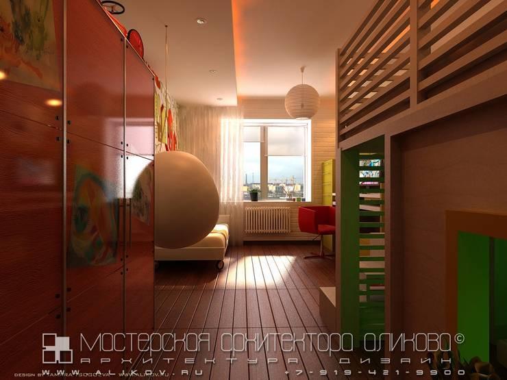 Интерьер квартиры в стиле лофт во Владикавказе: Детские комнаты в . Автор – Мастерская архитектора Аликова