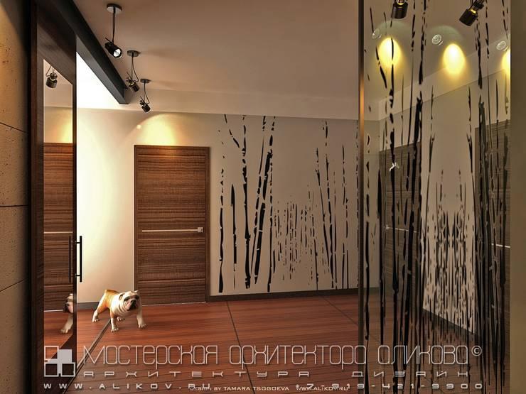 Интерьер квартиры в стиле лофт во Владикавказе: Коридор и прихожая в . Автор – Мастерская архитектора Аликова