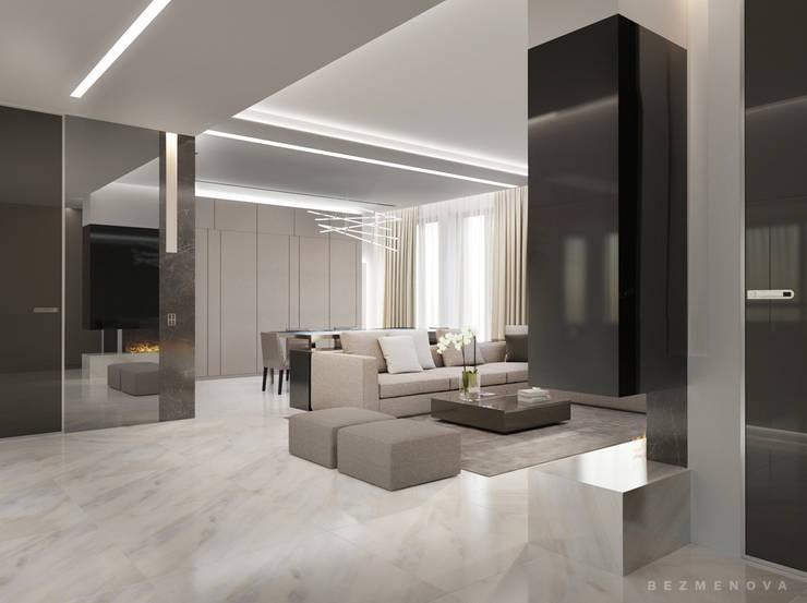 Квартира в Хамовниках: Гостиная в . Автор – Bezmenova