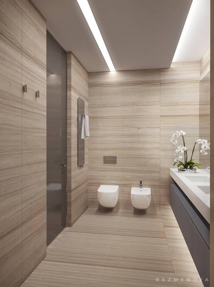 Квартира в Хамовниках: Ванные комнаты в . Автор – Bezmenova, Минимализм