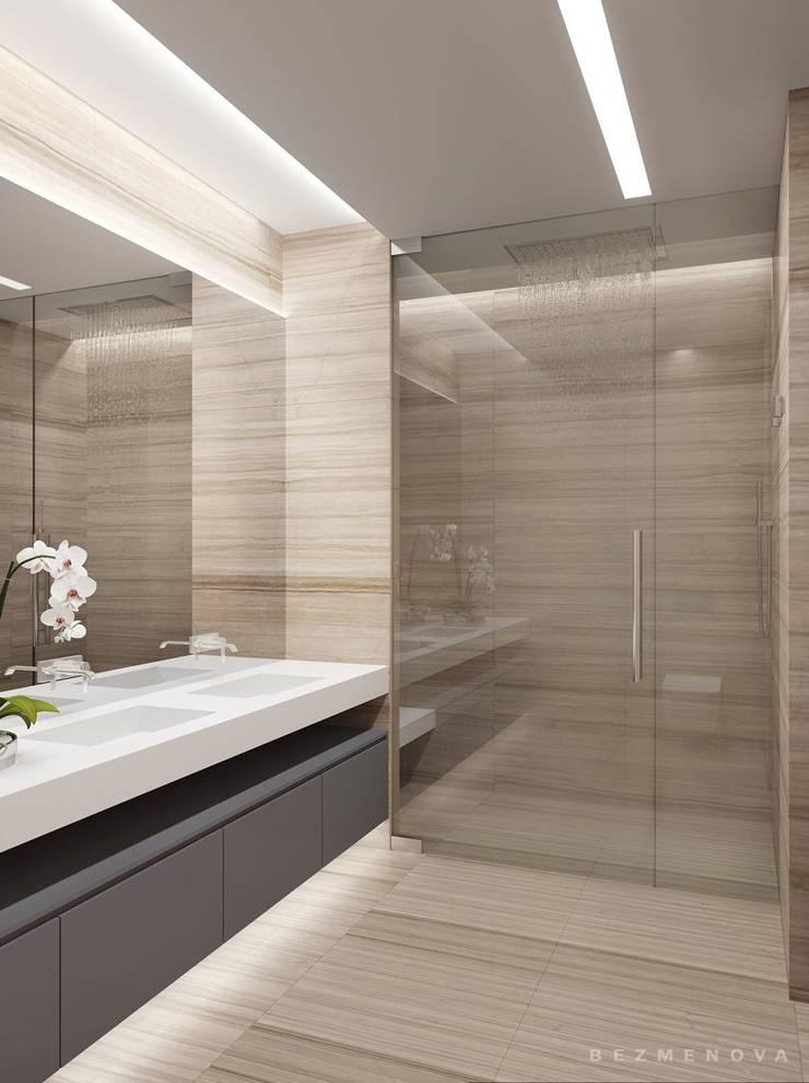 Квартира в Хамовниках: Ванные комнаты в . Автор – Bezmenova
