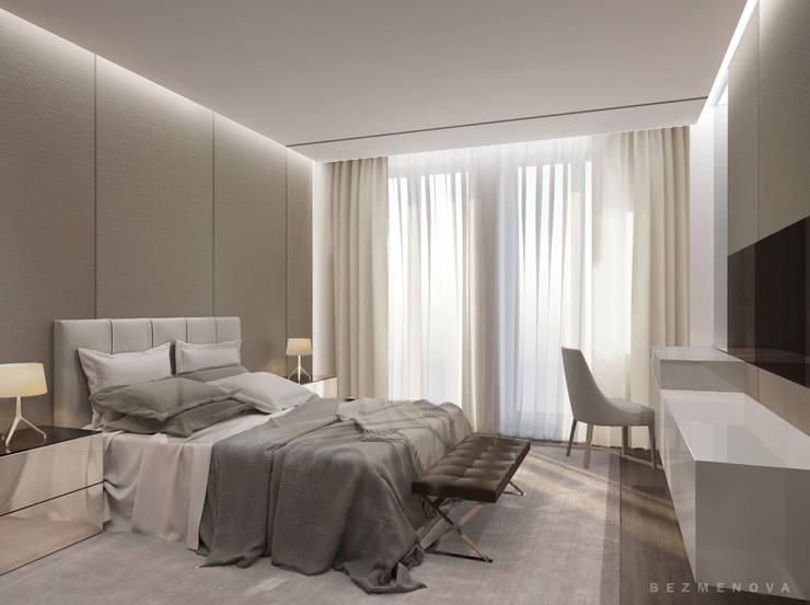 Квартира в Хамовниках: Спальни в . Автор – Bezmenova, Минимализм