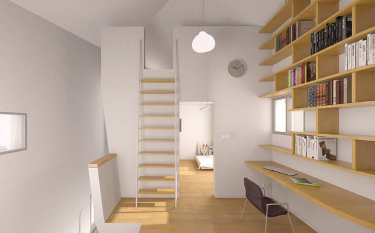 2층의 모습: IDÉEAA _ 이데아키텍츠의  서재 & 사무실
