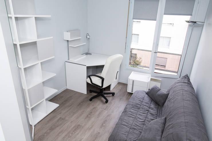 Bureau après - Appartement Courbevoie:  de style  par Nuance d'intérieur