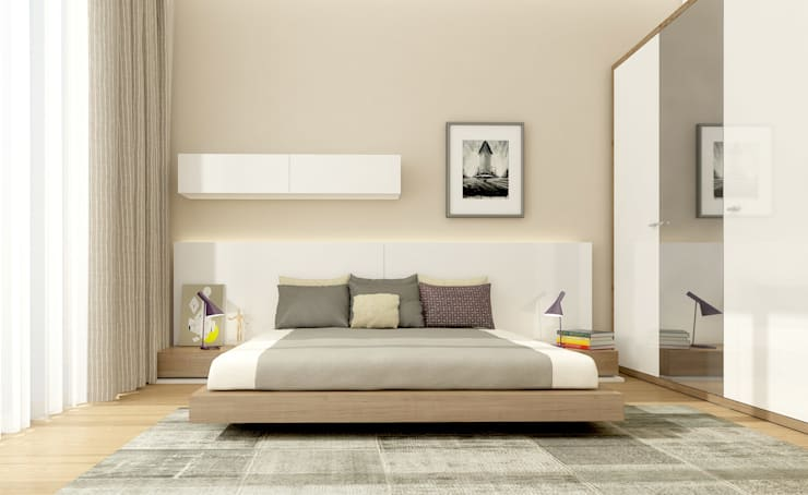 modern Bedroom by Oksijenn