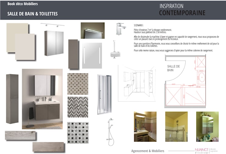 Book déco appartement Courbevoie : Salle de bain de style de style Moderne par Nuance d'intérieur