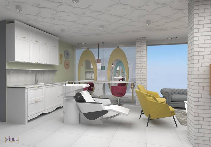 nihle iç mimarlık – karmen güzellik salonu:  tarz Dükkânlar, Kırsal/Country