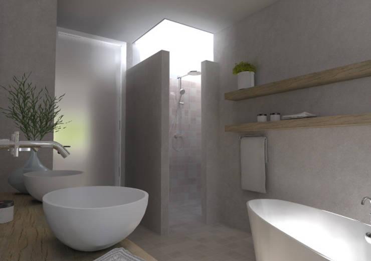woning lent: moderne Badkamer door loko architecten