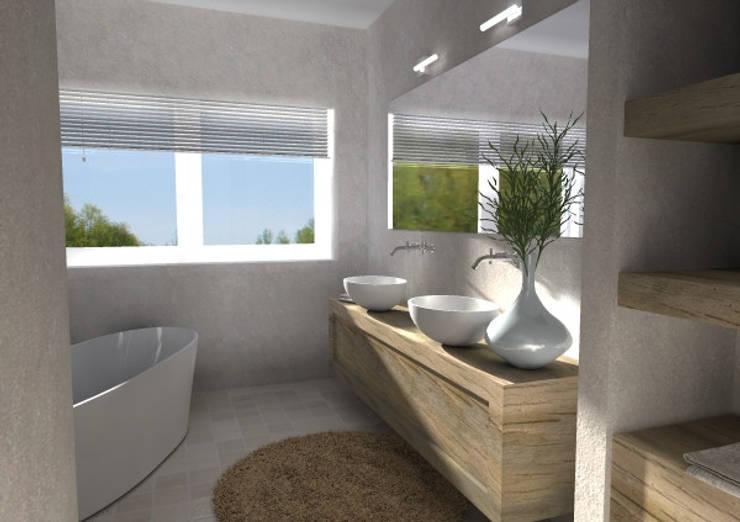 Simpele Mooie Badkamer : Diy details van hout in de badkamer wonen co