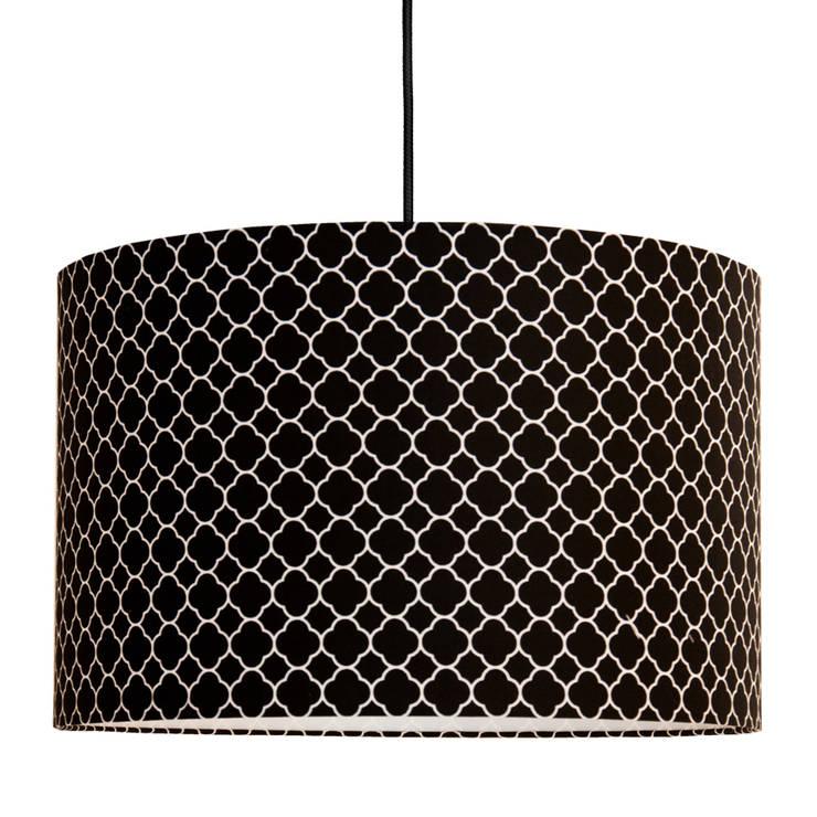 Lampa sufitowa koniczyna marokańska mała czarna: styl , w kategorii  zaprojektowany przez youngDECO,Nowoczesny Bawełna Czerwony