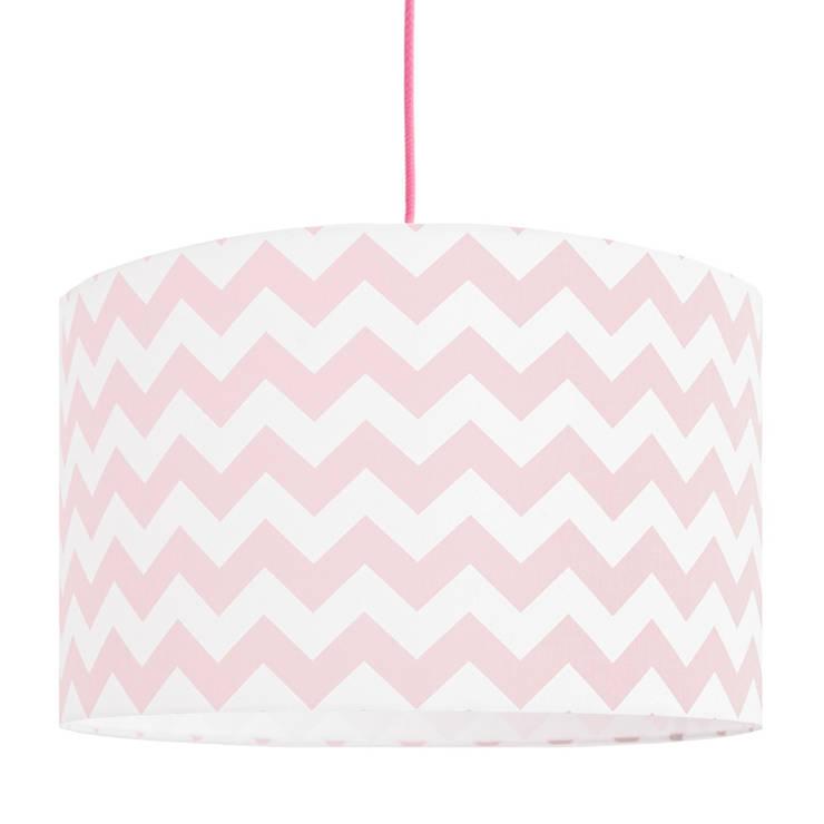 Lampa sufitowa chevron różowy: styl , w kategorii  zaprojektowany przez youngDECO,Nowoczesny Bawełna Czerwony