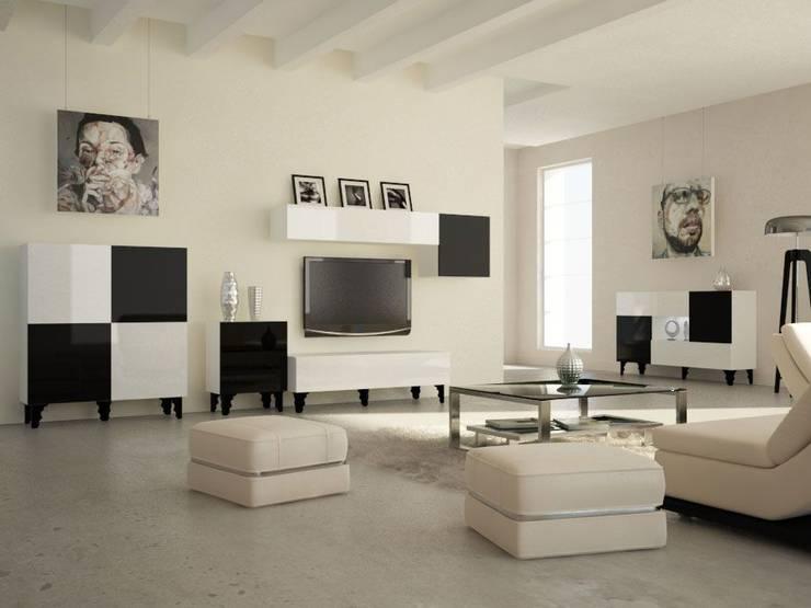 Kolekcja Black & White: styl , w kategorii Salon zaprojektowany przez onemarket.pl
