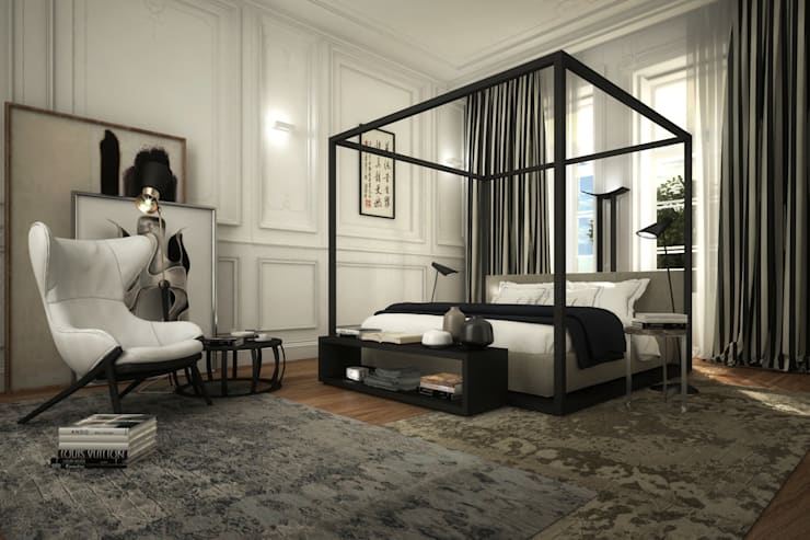 Apartamento Rodrigo da Fonseca: Quartos  por MRS - Interior Design