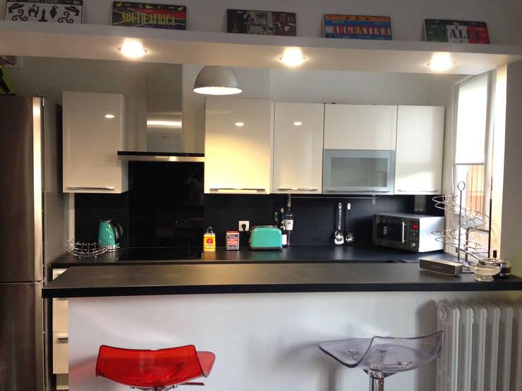 Appartement Marly-Le-Roi- Cuisine après :  de style  par Nuance d'intérieur