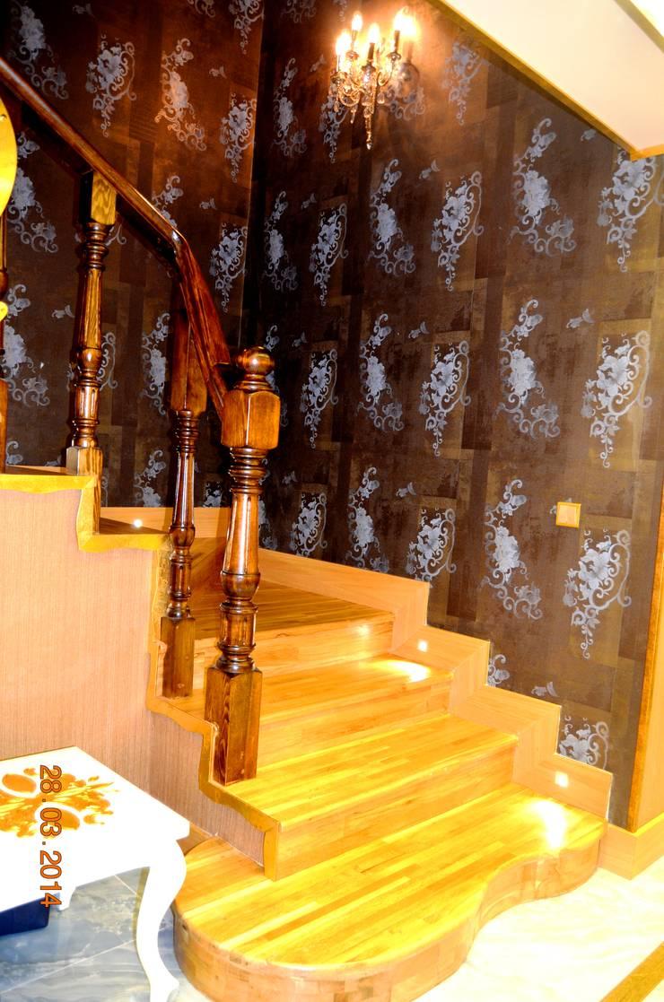 Mimar Melike Topal  – M&A Birer Evi_Alanya:  tarz Koridor, Hol & Merdivenler