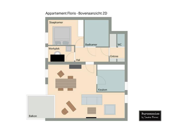 Van basis appartement naar stoer mannenhuis:   door Burosannies