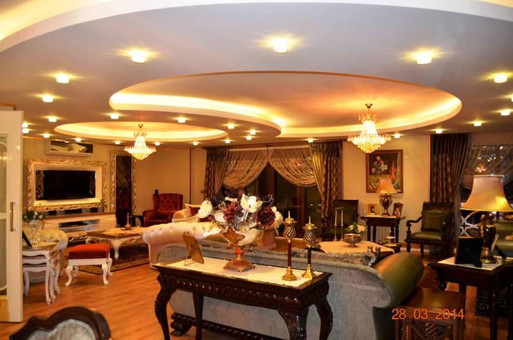 Mimar Melike Topal  – M&A Birer Evi_Alanya: klasik tarz tarz Oturma Odası