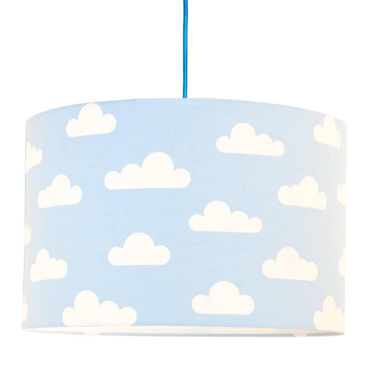 Lampa sufitowa chmurki na błękitnym: styl , w kategorii  zaprojektowany przez youngDECO,Skandynawski Bawełna Czerwony