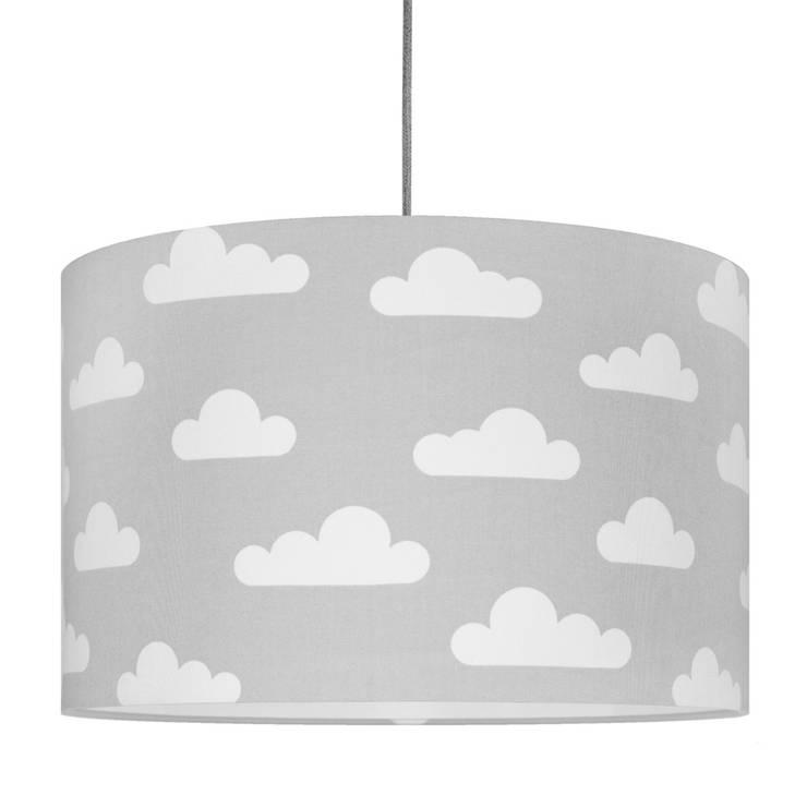 Lampa sufitowa chmurki na szarym: styl , w kategorii  zaprojektowany przez youngDECO,Skandynawski Bawełna Czerwony