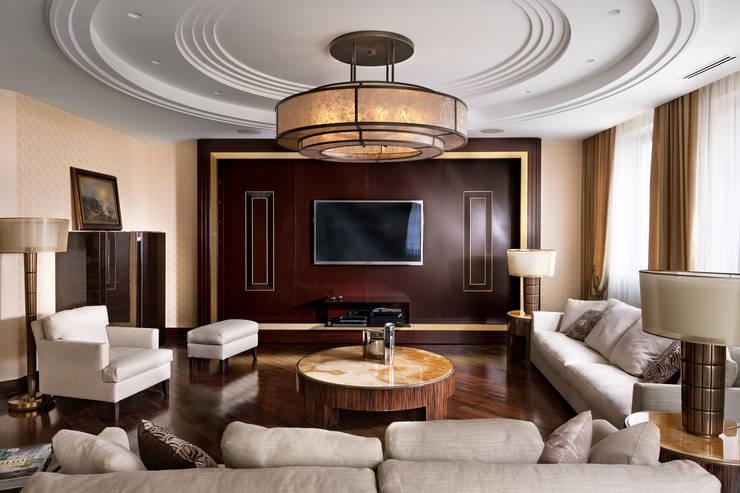 Частные апартаменты.: Гостиная в . Автор – А3 ARCHITECTURAL BUREAU,