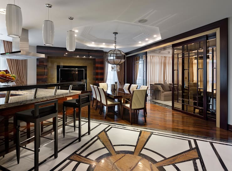 Частные апартаменты.: Кухни в . Автор – А3 ARCHITECTURAL BUREAU,