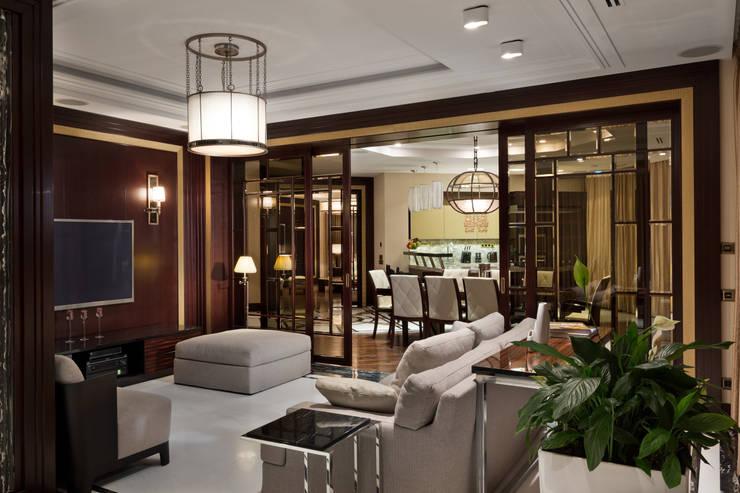 Частные апартаменты.: Медиа комнаты в . Автор – А3 ARCHITECTURAL BUREAU,