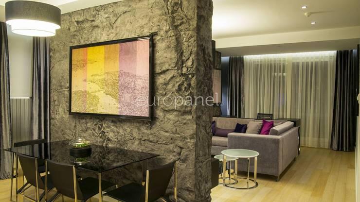 Europanel – ROCCA INDIGO: kırsal tarz tarz Duvar & Zemin
