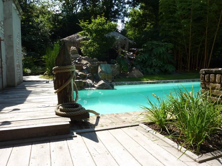 Tropische tuin:  Tuin door Koert Gardening, Tropisch