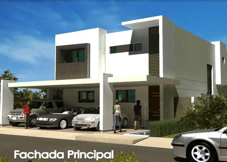 FACHADA PRINCIPAL:  de estilo  por villarreal arquitectos y urbanistas asociados sc