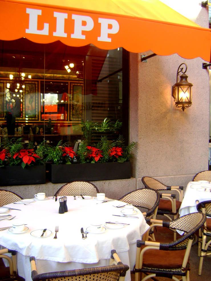 Lipp- Boue Arquitectos. : Restaurantes de estilo  por Boué Arquitectos