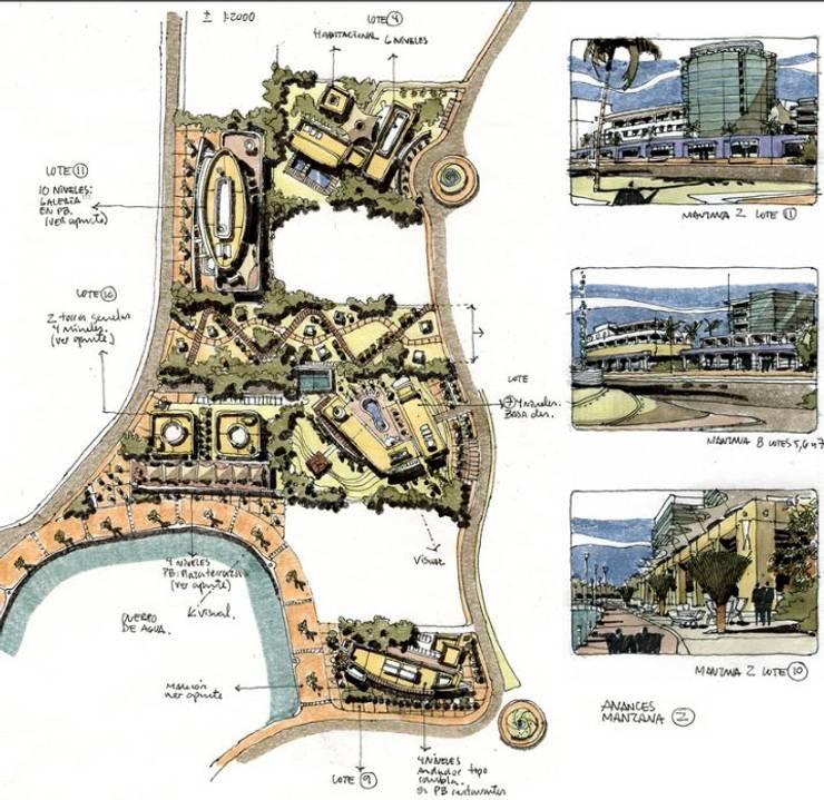 MALECON CANCUN:  de estilo  por villarreal arquitectos y urbanistas asociados sc