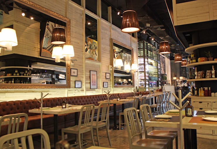 Oliva- Boue Arquitectos: Restaurantes de estilo  por Boué Arquitectos