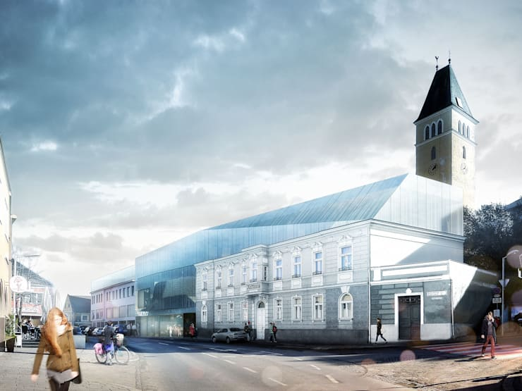 Community Center in Boeheimkirchen, Austria.:   por Rosario Badessa