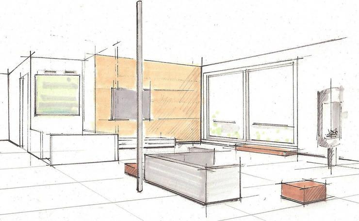 innenraumplanung m blierungs material und farbkonzept f r eine penthousewohnung in. Black Bedroom Furniture Sets. Home Design Ideas
