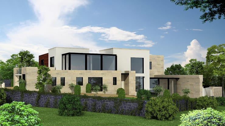 Casa Monte Carpatos- Boue Arquitectos : Salas de estilo  por Boué Arquitectos
