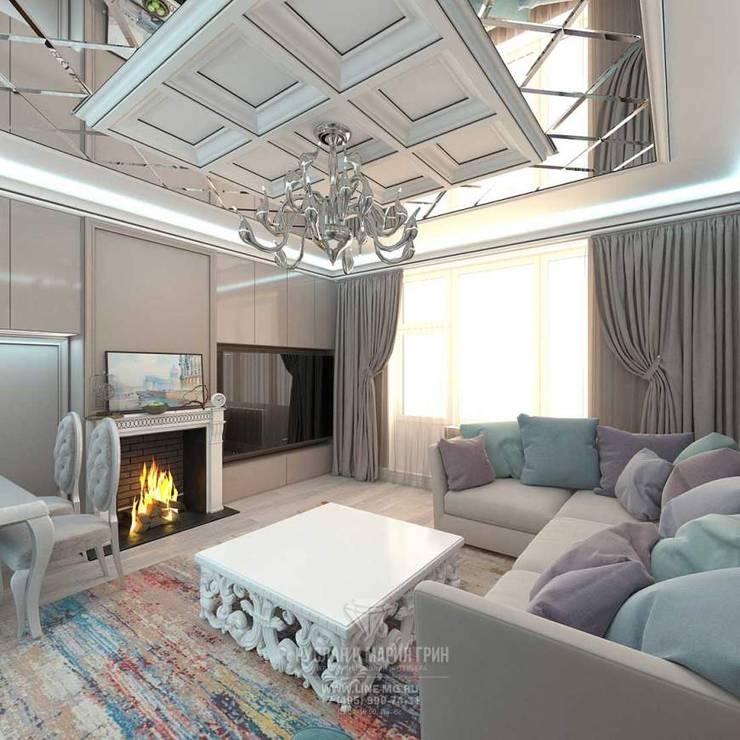 Дизайн гостиной: Гостиная в . Автор – Студия дизайна интерьера Руслана и Марии Грин,