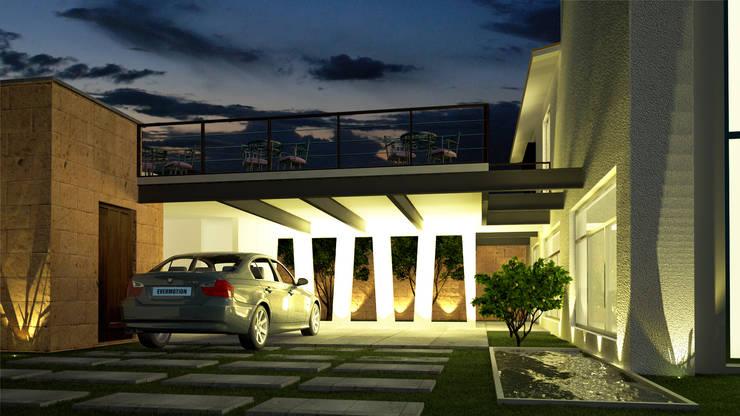 Casa O-M: Garajes de estilo  por Jeost Arquitectura