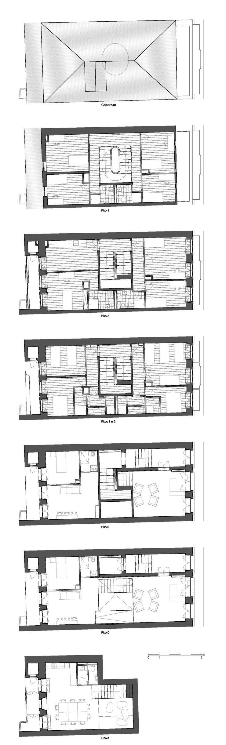 Plantas - Intervenção:   por Teresa Pinto Ribeiro | Arquitectura & Interiores