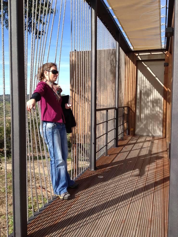 Abrigos da Eira: Terraços  por Plano Humano Arquitectos