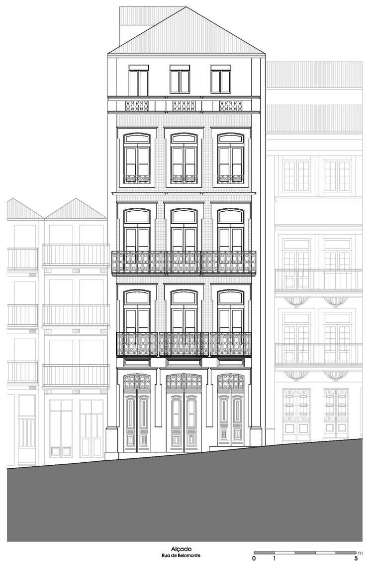 Alçado - Rua de Belomonte:   por Teresa Pinto Ribeiro | Arquitectura & Interiores