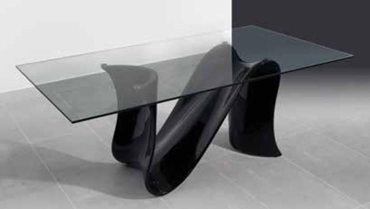 Mesas  com tampo de vidro: Sala de jantar  por relax mobiliário e decoração