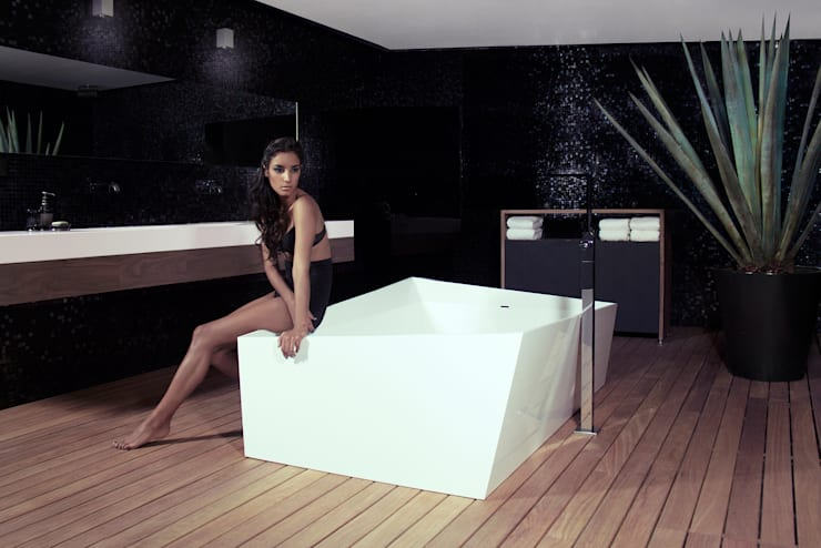 Mobiliario y accesorios para baño Nahu®: Baños de estilo  por Mefa de México,