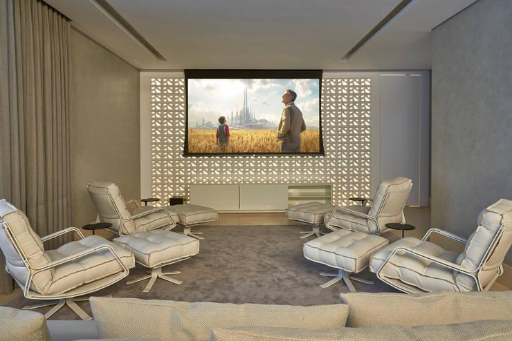 Ed Saint Paul de Vence: Salas multimídia  por Alessandra Contigli Arquitetura e Interiores,