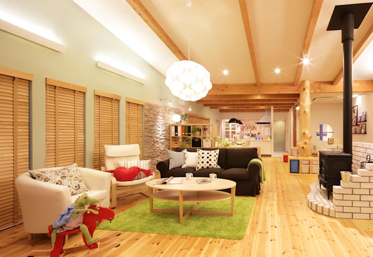 Projekty,  Salon zaprojektowane przez dwarf