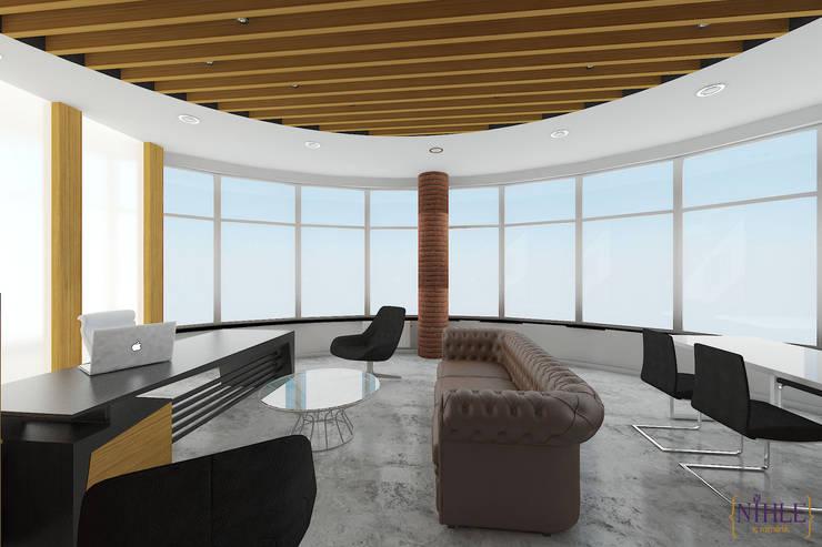 nihle iç mimarlık – MAKAM ODASI:  tarz Ofis Alanları