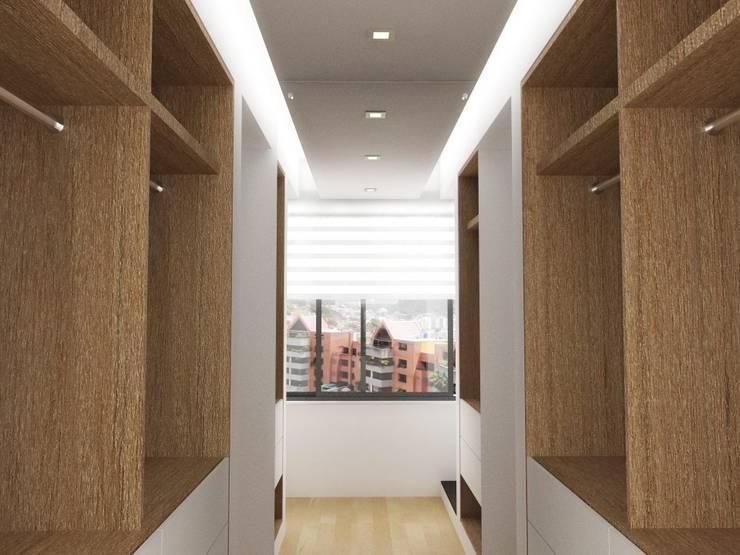 Pasillos y recibidores de estilo  por RRA Arquitectura