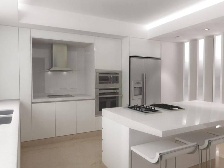 .: Cocinas de estilo  por RRA Arquitectura