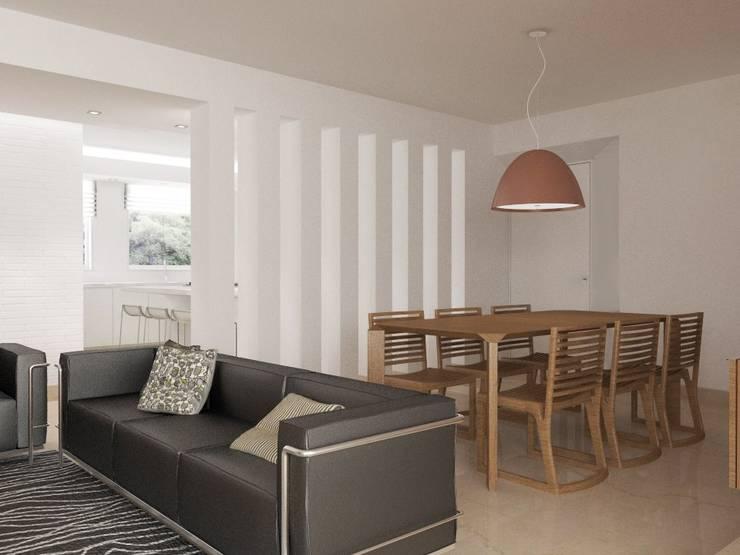 .: Salas / recibidores de estilo minimalista por RRA Arquitectura